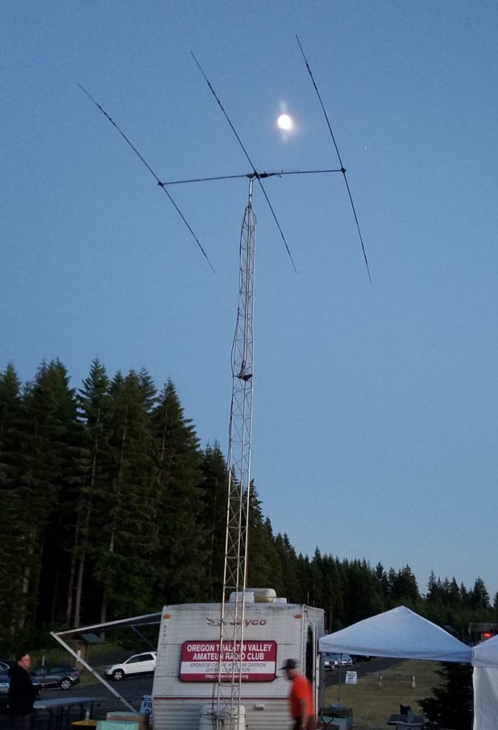 Field Day - Moon in Antenna